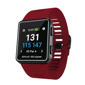 Shot Scope G3 Golf Watch - Red